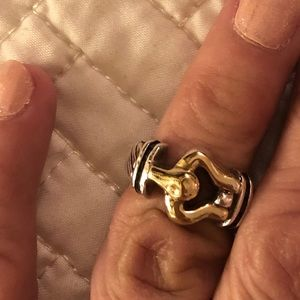 Sapphires buckle ring